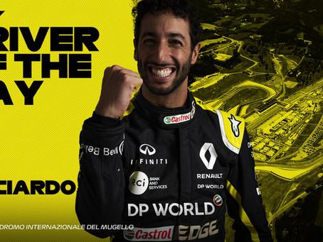 Em votação popular, Daniel Ricciardo é eleito piloto do dia no Grande Prêmio da Toscana
