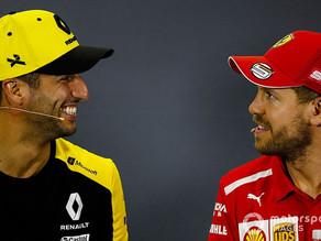 Daniel Ricciardo planeja troca de capacete com ex-companheiro de equipe Sebastian Vettel