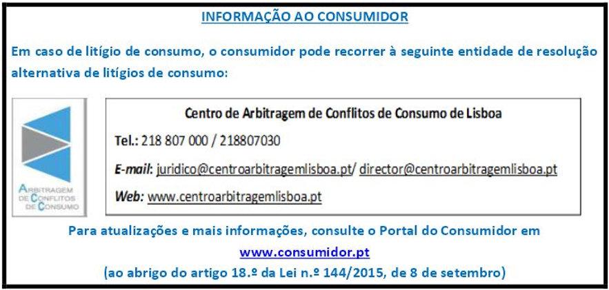 Informação ao Consumidor
