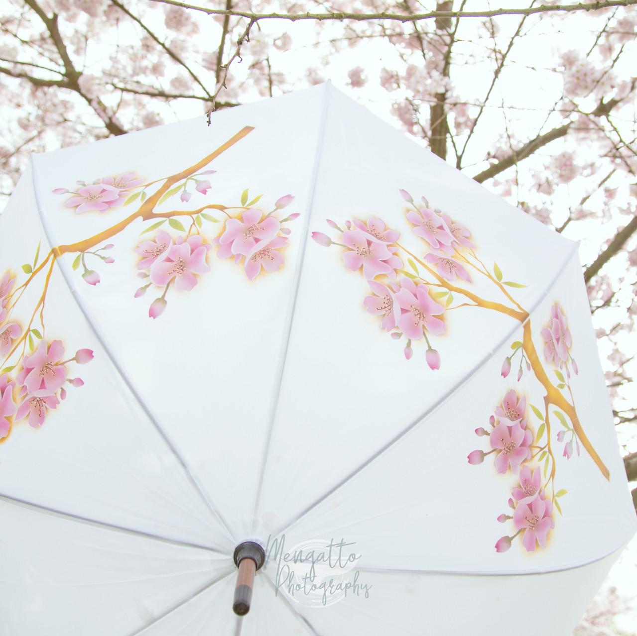 Cherry Blossom Hand Painted Umbrella