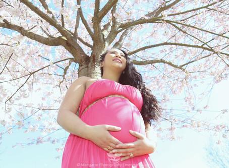 Cherry Blossom Maternity Photo shoot with Alma Alabon