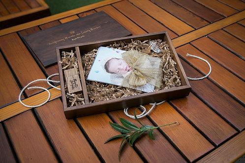 Wood Photo Box w/ USB