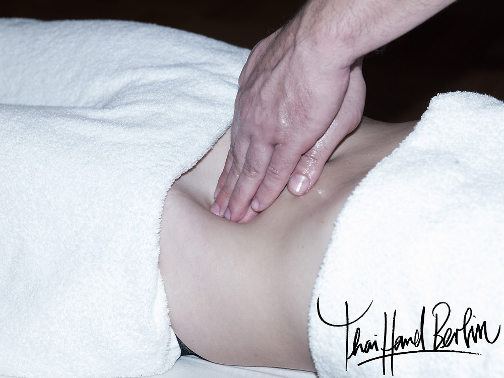 Abdominal massage. It focuses on the energy and emotional blockages we all have to some degree and store in our bellies