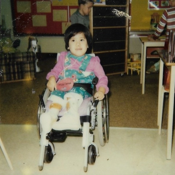 Sitting in my first wheelchair