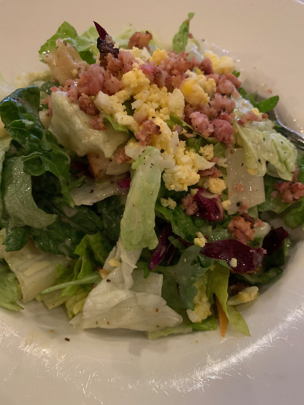 House salad from Smith Brothers Steakhouse in Toronto