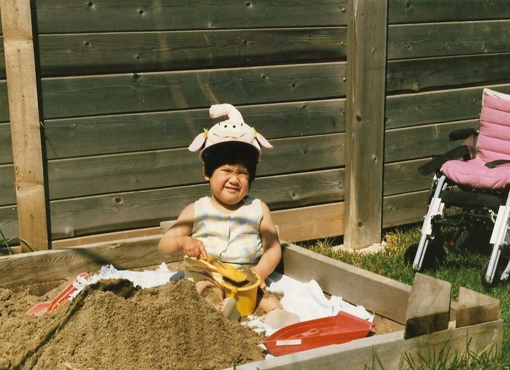 Me playing in my sandbox when I was little