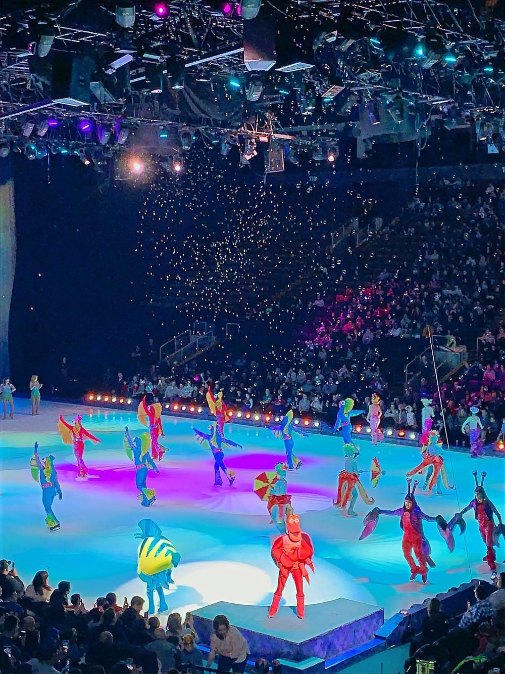 The Little Mermaid performance at Disney on Ice in Toronto, Ontario.