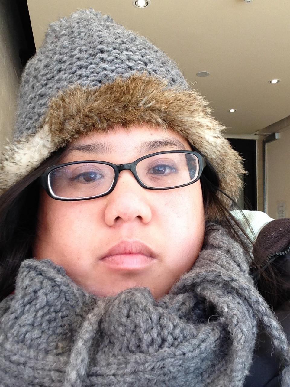 Ling selfie in winter 2014