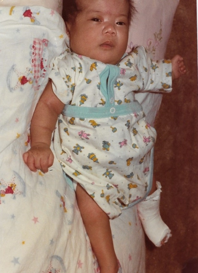 Me as a newborn baby