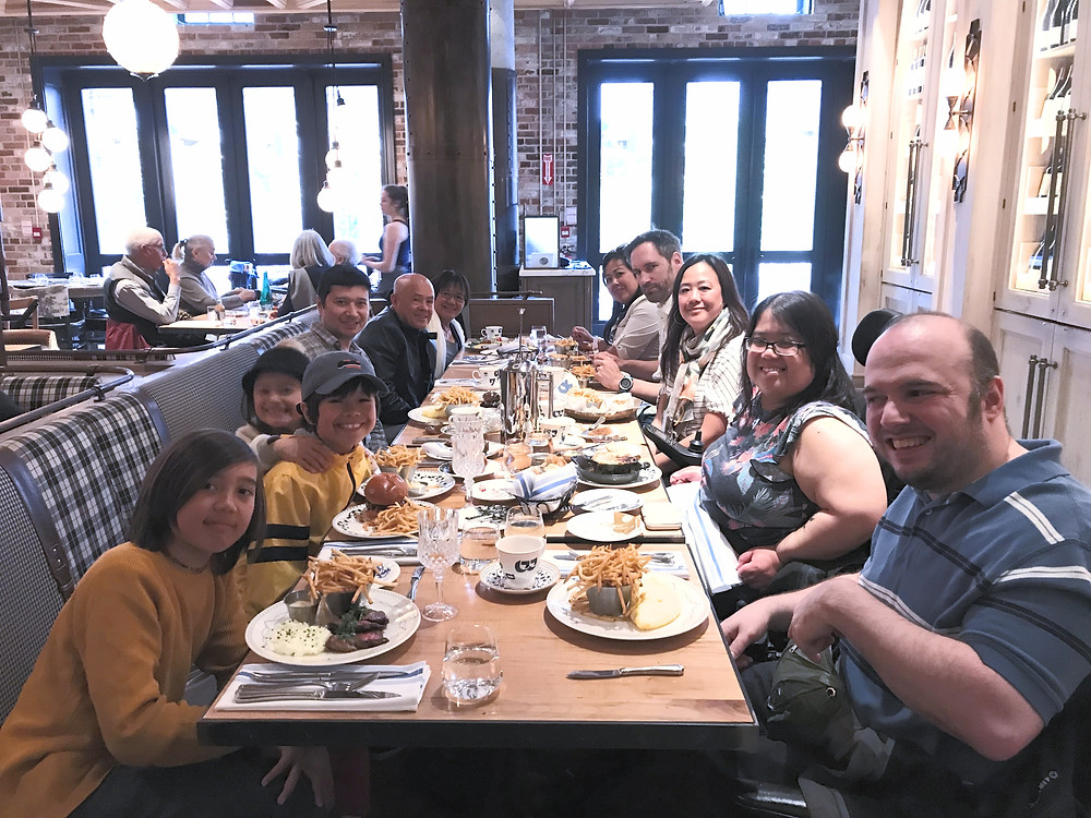 Brunch with my family at Cluny Bistro