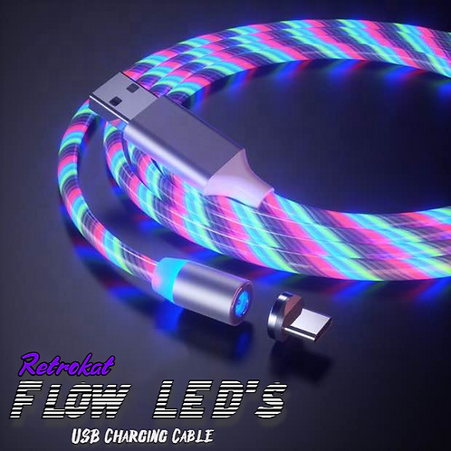 RetroKat - Flow LED's USB-C- Charging Cable