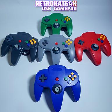 RetroKat64X - Wired USB Gamepad + Micro USB adapter