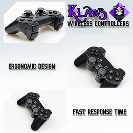 RetroKat Klaws - 2.4 GHz Wireless Controllers + Micro USB Adapter