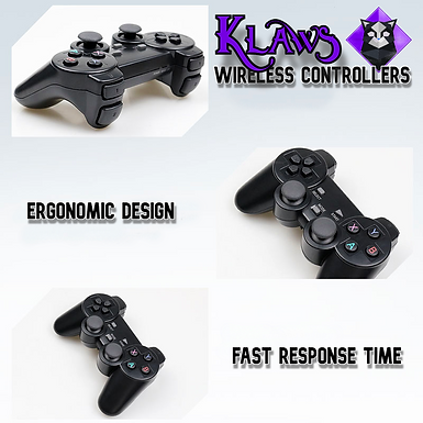 RetroKat Klaws - 2.4 GHz Wireless Controllers + Micro USB Adapter