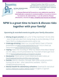 National Prevention Week Events May 9th -15th 2021