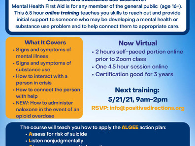 Mental Health First Aid For Norwalk Mentors