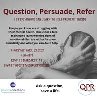 Question, Persuade, Refer 4/22/2021