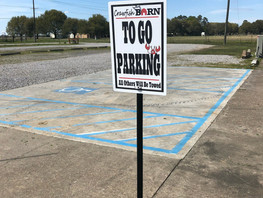 To-Go Parking at the Crawfish Barn