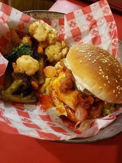 baconburgerwithroastedveggeis