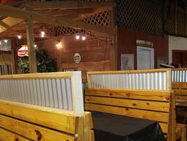 Seating at the Crawfish Barn