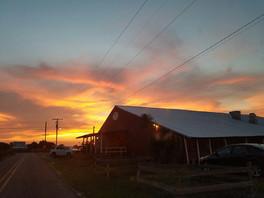Sunset at the Crawfish Barn