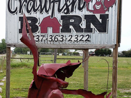 Welcome Sign at the Crawfish Barn