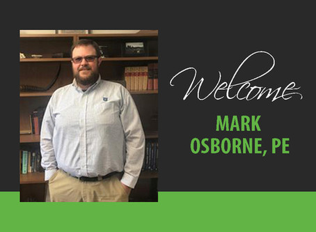 Welcome Mark Osborne, PE