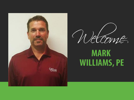 Welcome Mark Williams, PE