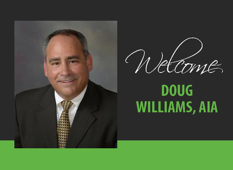 Welcome Doug Williams, AIA