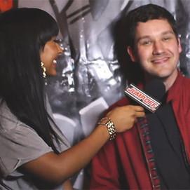 Liam being interviewed by Maya Jama