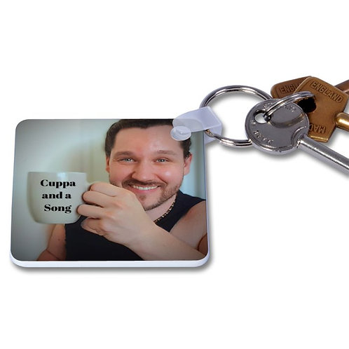 Cuppa and a Song Keyring