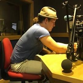 Liam on the radio