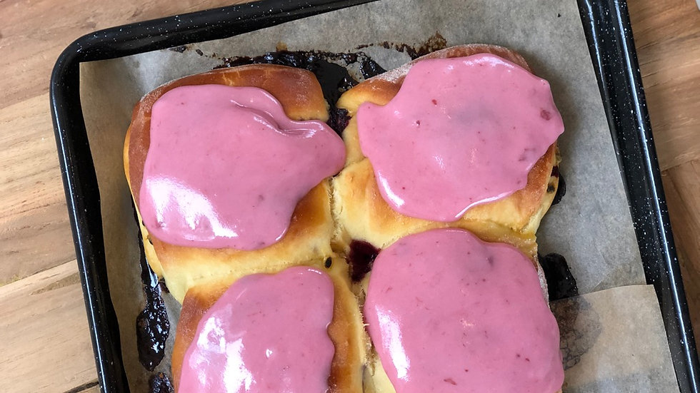 Pink Fruit Bun