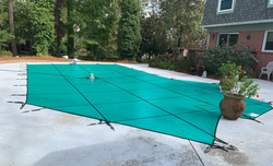 Solid Green Pool Safety Cover