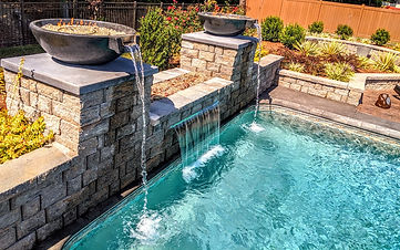 fire bowls, water features, fire pit, waterfall, water bowls, spout, water spouts, fire, water, tile, pool, swimming pool, fire pits, landscape, landscaping, pavers, fun, warmth, ambience, summer, spring, winter, fall, swim