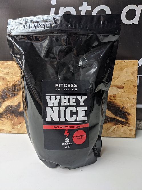 Whey Nice Protein Powder - Strawberry fruit