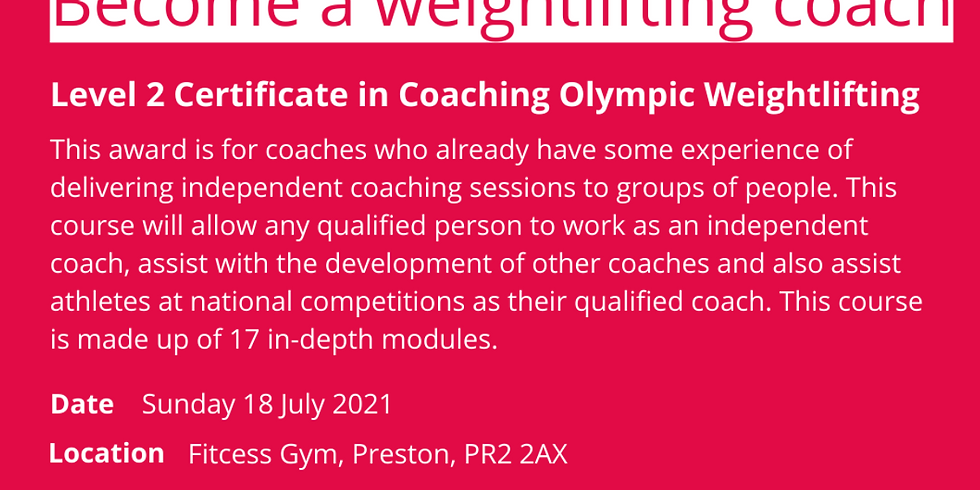 British Weightlifting Level 2