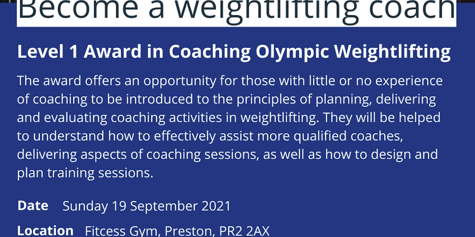 Level 1 Olympic Weightlifting