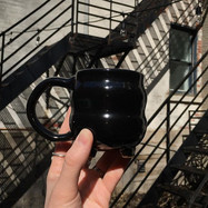 Back alley coffee drinking