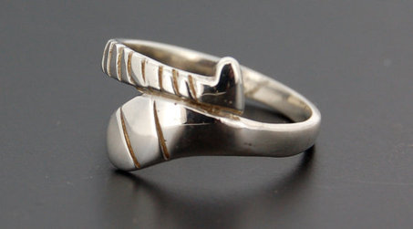 Silver Hurl Ring