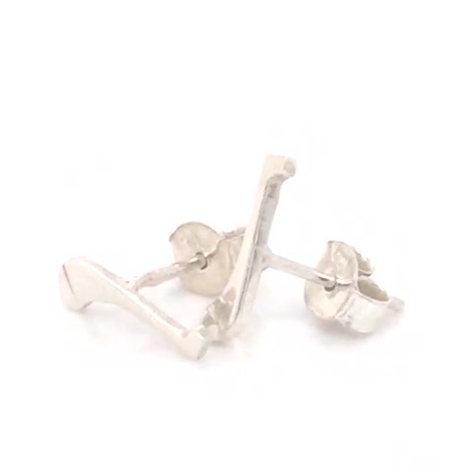 Small Silver Hurl E-rings