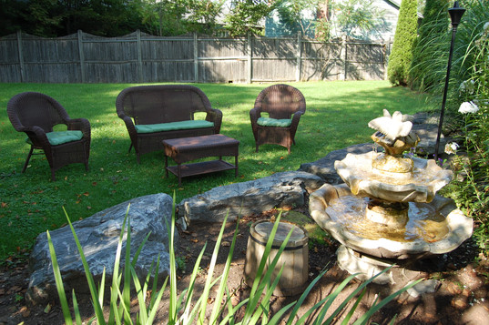 Outdoor Garden at Shaker Mill Inn
