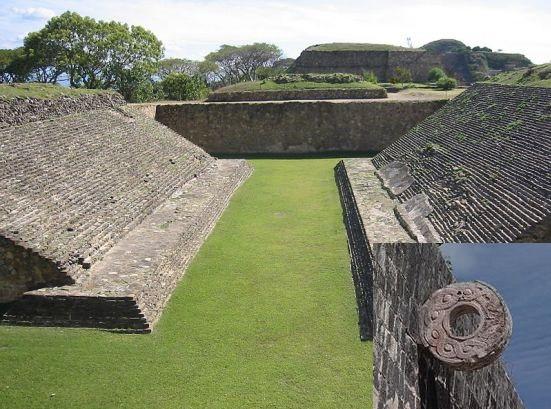 Campo de jogo de bola de Monte Albán (Zapoteca) - Méxic