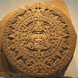 Calendário Asteca, semelhante ao Haab. Também contava 365 dias.
