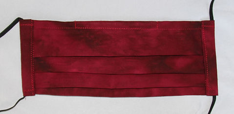 PPE 3 Layer Face Mask- Ruby Red