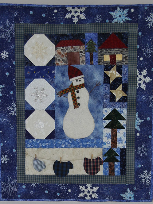 Wallhanging Snow Days Quilt