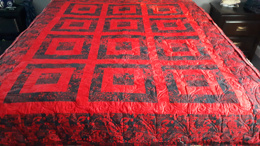 quilt batik digital quilting borders quilted separately polysheen thread hobbs heirloom batting