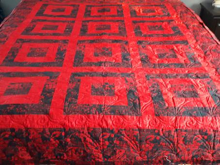 Echo- A series of Black & Red Batik Quilts