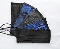 Adult Face Mask 5 Pack  Black & Blue Collection