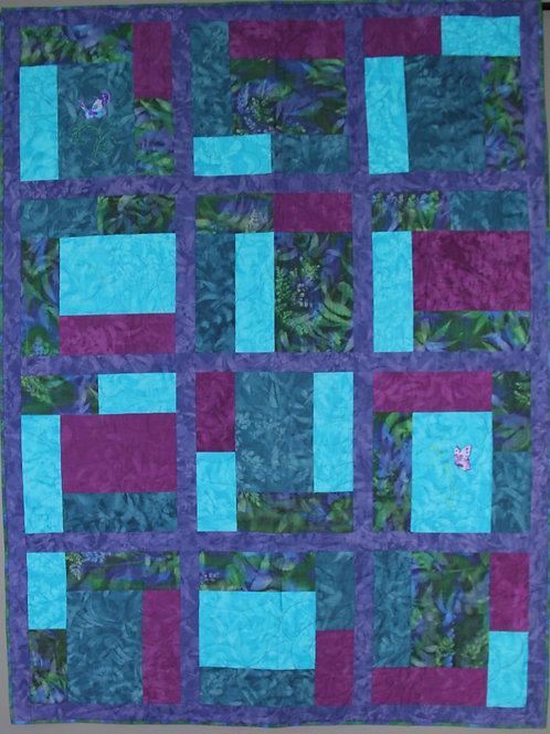 Butterfly GardenLap/Twin Quilt